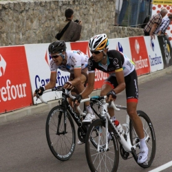 Andreas Klöden gegen Nicolas Roche, TdF 2012 18. Etappe